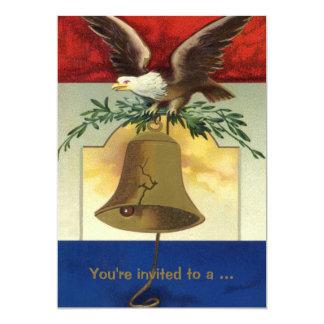 Vintage 4o julho com Eagle e Liberty Bell Convites