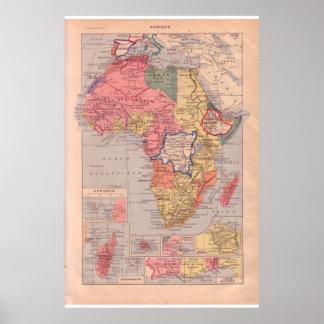 Vintage África 1920   histórica Poster