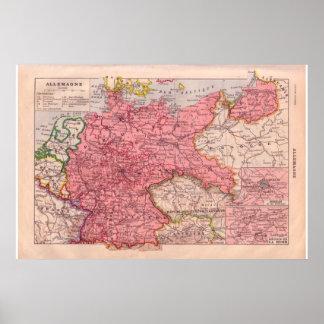 Vintage Alemanha 1920 histórica Pôsteres
