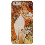 Vintage Alphonse Mucha Iphone 6 positivo Capa Barely There Para iPhone 6 Plus