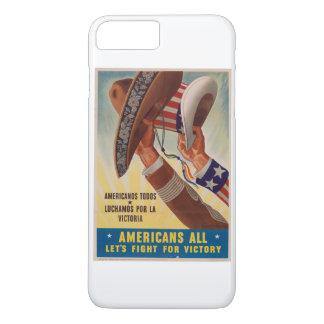 Vintage Americas EUA e México unido Capa iPhone 8 Plus/7 Plus