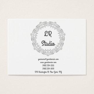 Vintage and simple white cartão de visitas