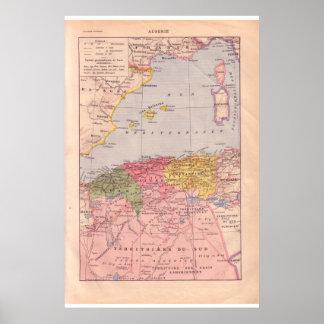 Vintage Argélia 1920 histórica Pôsteres