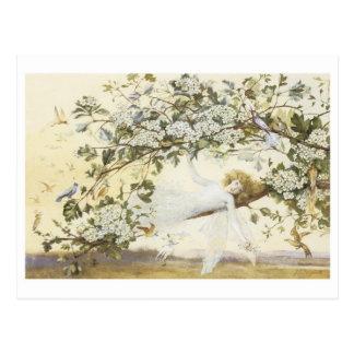 Vintage Ariel feericamente 1858 Cartão Postal