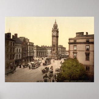 Vintage Belfast, cena memorável da rua de Albert Poster