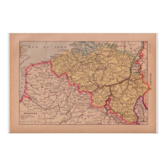 Vintage Bélgica 1920 histórica Posters
