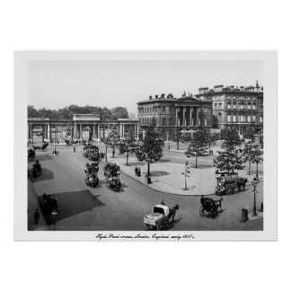 Vintage canto de Inglaterra, Londres Hyde Park Poster