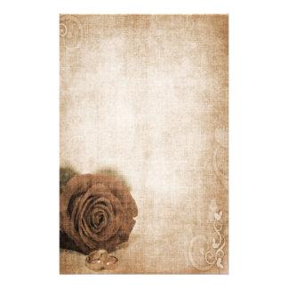 Vintage cor-de-rosa Wedding papel de carta