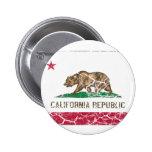Vintage da bandeira do estado de Califórnia Pins