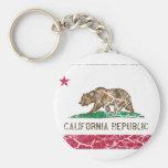 Vintage da bandeira do estado de Califórnia Chaveiros