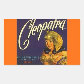 Vintage da etiqueta que anuncia o citrino de adesivo retangular