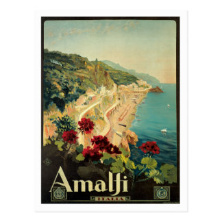 Vintage de Amalfi Italia Italia Cartão Postal