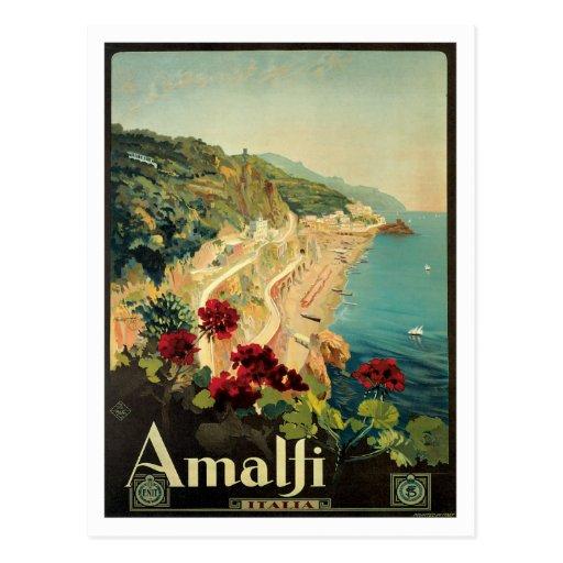 Vintage de Amalfi Italia Italia Cartoes Postais