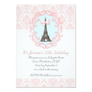 Vintage de Paris Convite 12.7 X 17.78cm