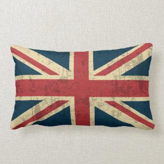 Vintage de Union Jack afligido Almofada Lombar