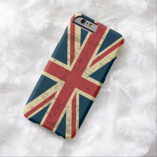 Vintage de Union Jack afligido Capa Barely There Para iPhone 6