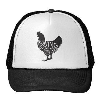 Vintage & design engraçado da galinha boné