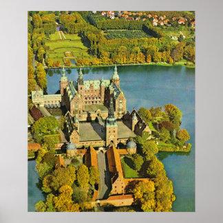 Vintage Dinamarca, castelo de Frederiksburg Pôsteres
