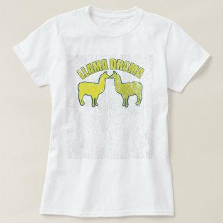 Vintage do drama do lama camiseta