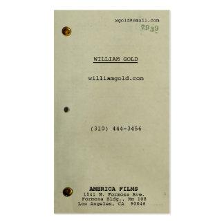 Vintage do guião cartão de visita