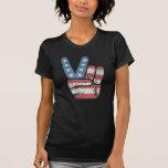 Vintage dos EUA do sinal de paz T-shirt