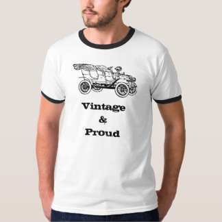 Vintage e ilustração clássica orgulhosa do carro camiseta