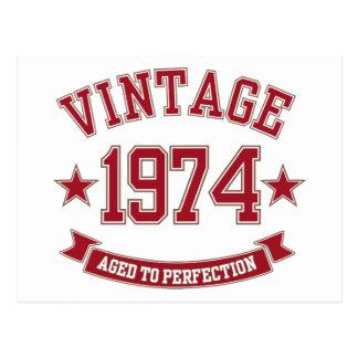 Vintage envelhecido à perfeição 1974 cartão postal