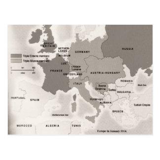 Vintage Europa da réplica em 1914 Cartao Postal