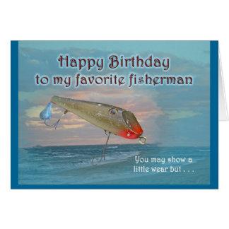 Vintage Fishmaster Sylvester Flaptail do Cartão Comemorativo