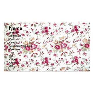 Vintage floral cartão de visita