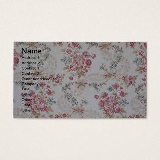 Vintage floral cartão de visitas