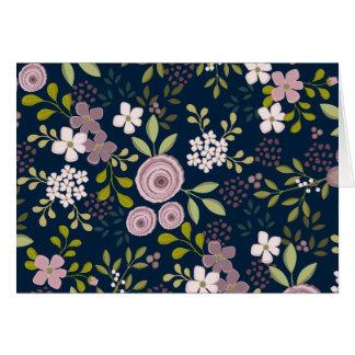 Vintage floral Notecard moderno do jardim selvagem Cartão De Nota