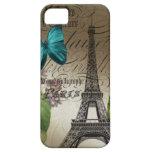 Vintage floral Paris da arte botânica elegante iPhone 5 Capa