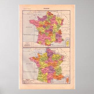 Vintage France 1920 histórico Poster