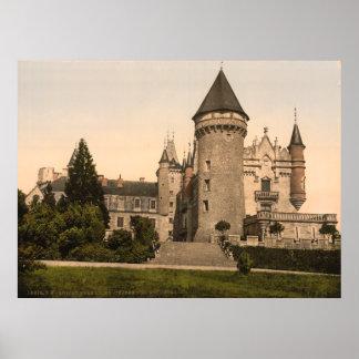 Vintage France, Chateaux de Bourbon-Busset, Vichy Poster