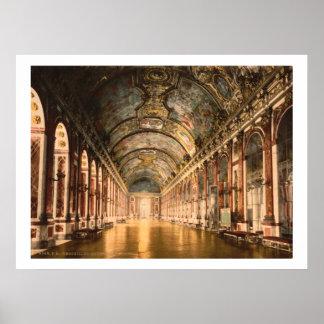 Vintage France, galeria dos espelhos Versalhes Poster