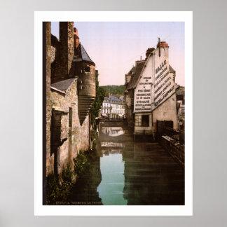 Vintage France, passadiço do Steir, Quimper Poster