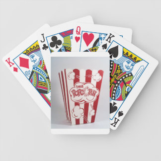 Vintage fresco do vermelho do saco da pipoca baralho para poker