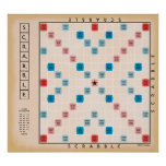 Vintage Gameboard do Scrabble Poster