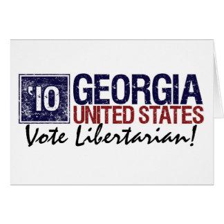 Vintage Geórgia do libertário do voto em 2010 - Cartão