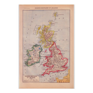 Vintage Grâ Bretanha 1920 e Ireland históricos Posters