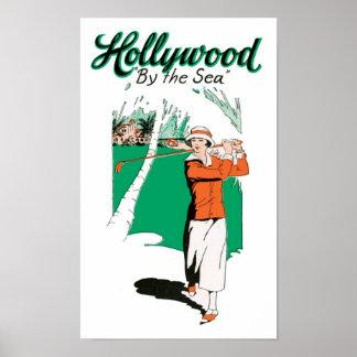 Vintage Hollywood pelo cargo do impressão da arte