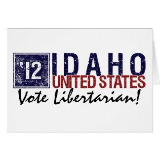 Vintage Idaho do libertário do voto em 2012 - Cartão Comemorativo