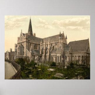 Vintage Ireland, a catedral Dublin de Patrick de s Poster