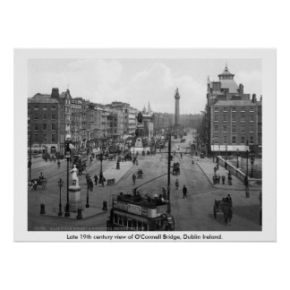 Vintage Ireland, ponte Dublin de O'Connell Poster
