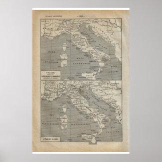 Vintage Italia 1920 histórica Posteres