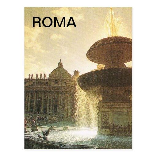 Vintage Italia, Roma, vaticano, St Peter Cartão Postal