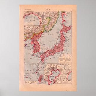 Vintage Japão 1920 histórico Poster