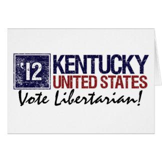Vintage Kentucky do libertário do voto em 2012 - Cartão