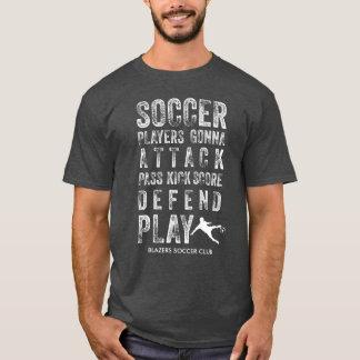 Vintage legal palavras afligidas do futebol t-shirt